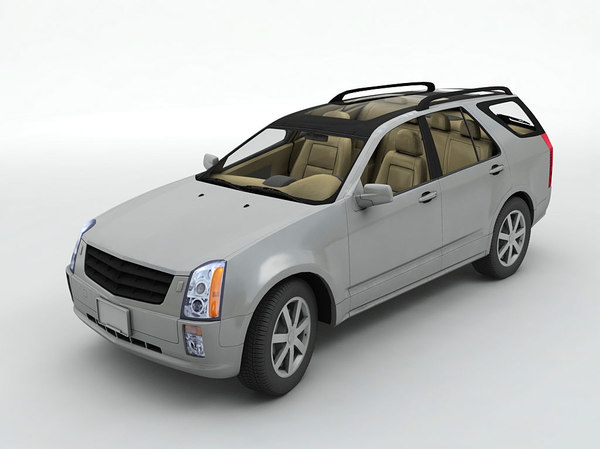 3D model cadillac srx sport utility vehicle