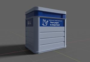 paper recycling container pbr 3D model