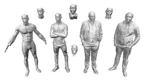 human body scan data 3D model
