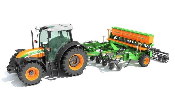 3D stara tractor seed drill