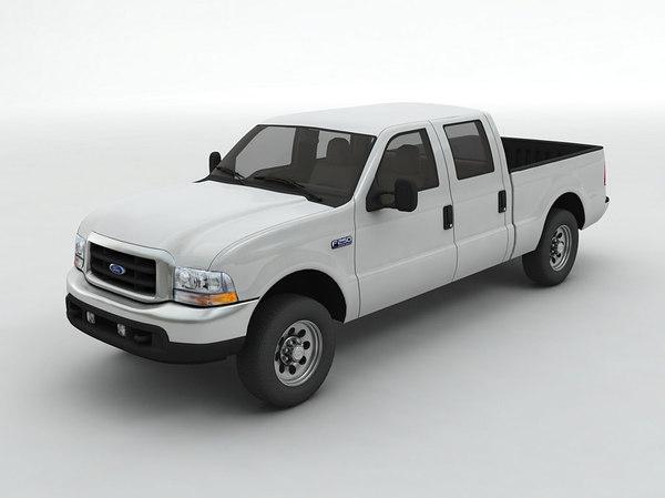 3D model f-250 crew cab pickup truck
