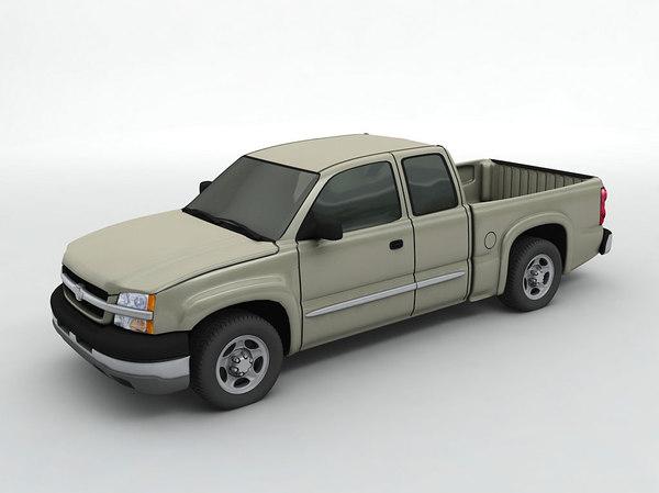 3D chevy silverado 1500 pickup truck