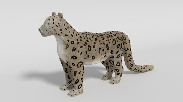 snow leopard 3D