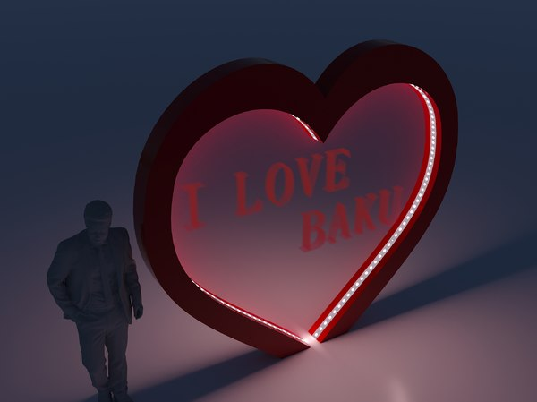 heart decor 3D
