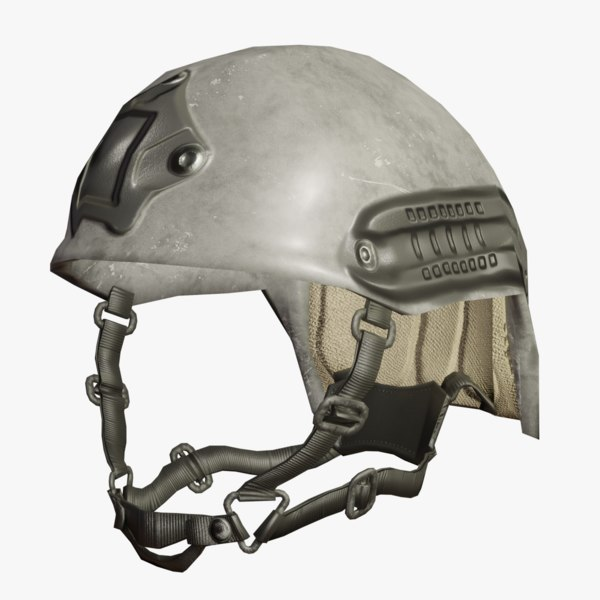 combat helmet rails 3D model