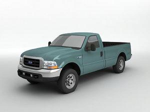 3D f-350 pickup truck