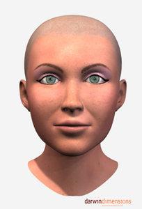 3d model head facials expressions