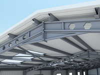 warehouse interior building 3D model
