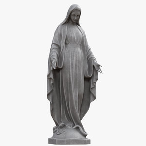 3D virgin mary statue v2