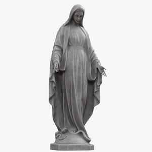 3D virgin mary statue v2