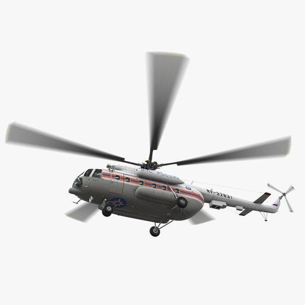 3D mi-8mtv russian emercom animation