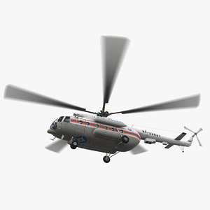 3D mi-8mtv russian emercom animation