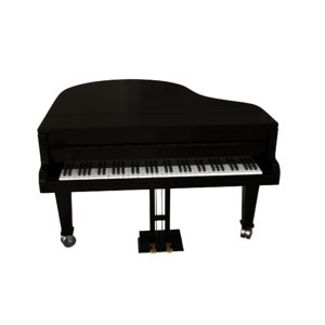 3D model royal fortepiano classic