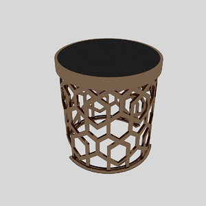3D metal table model