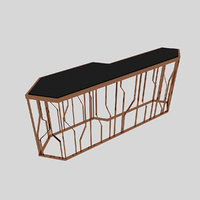 metal table 3D model