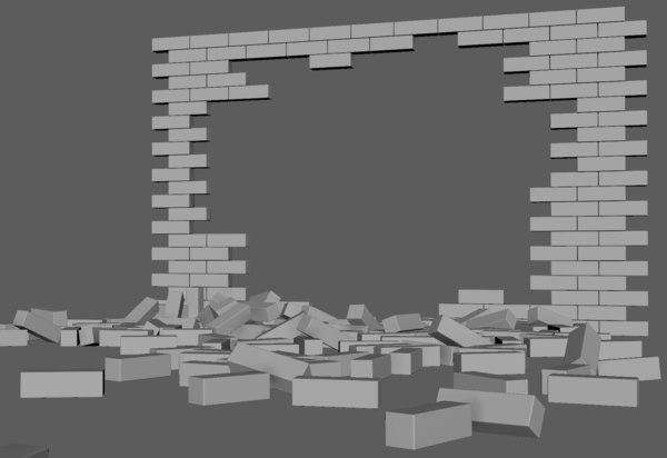 3D brick wall