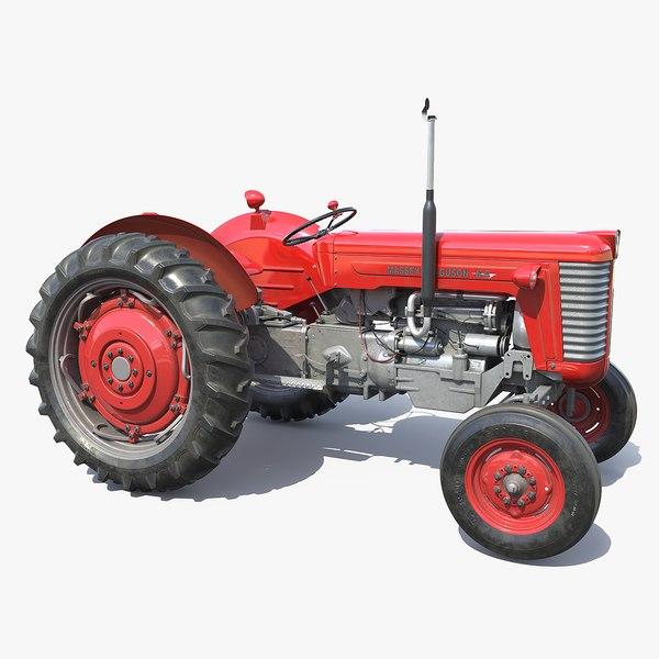 tractor 65 massey ferguson 3D