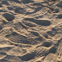 Sand beach material