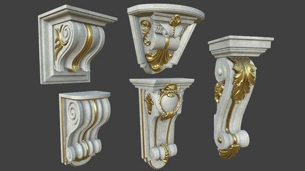 5 middle pieces 2 3D model
