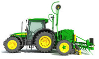 tractor seed drill model