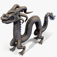 3D ready chinese dragon figurine model