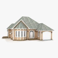 3D two-story cottage 81