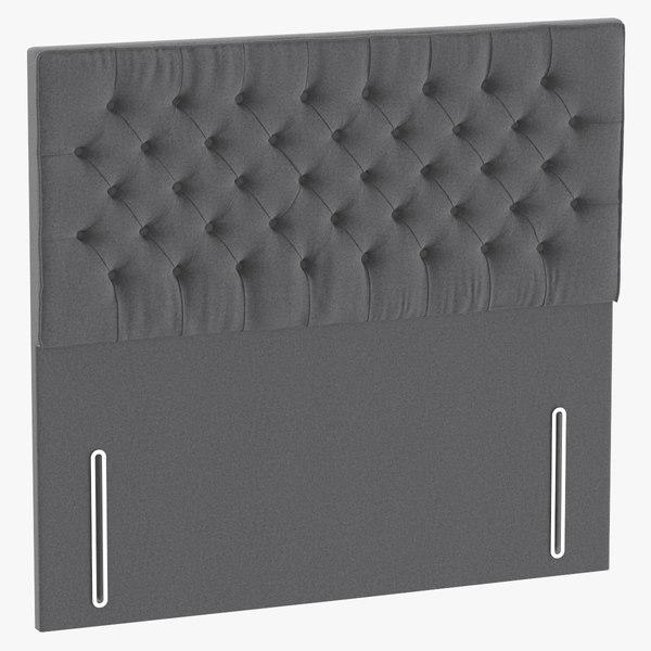 3D headboard 01 grey model