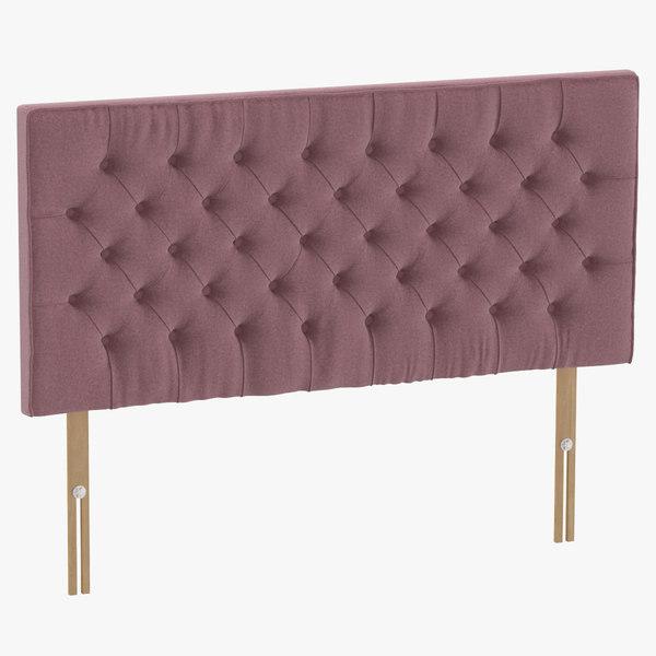headboard 06 blush 3D model