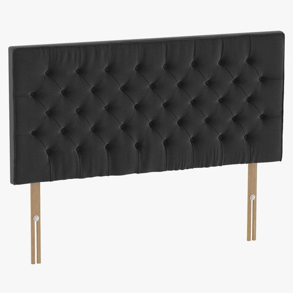 headboard 06 charcoal 3D model