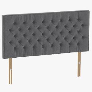 3D headboard 06 grey