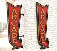 Neon Arcade Vintage Advertising Signs
