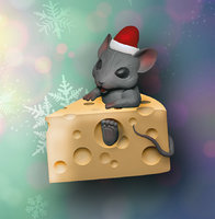 Mouse in cheese print