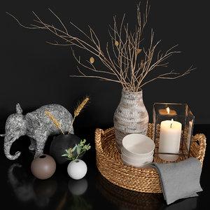 3D model elephant basket