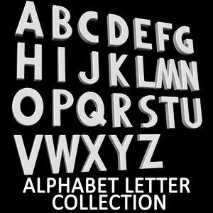 alphabet b e 3D