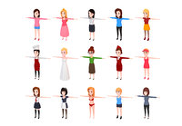 Cartoon Girl Character Pack 1