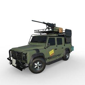 3D off-road 4x4 defender vehicle model