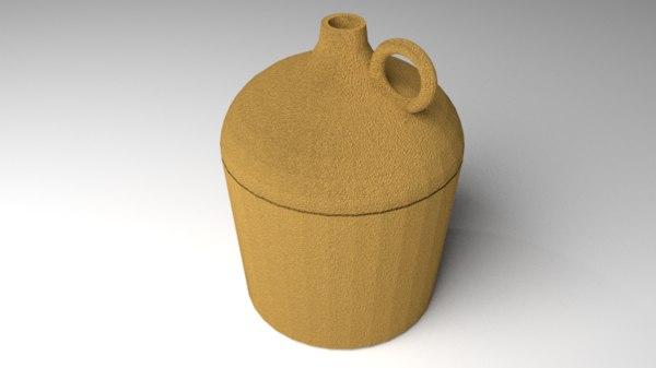 3D jug clay
