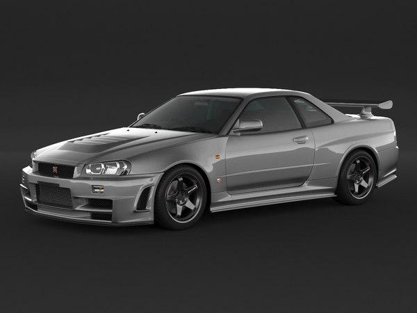 3D car nissan skyline r34