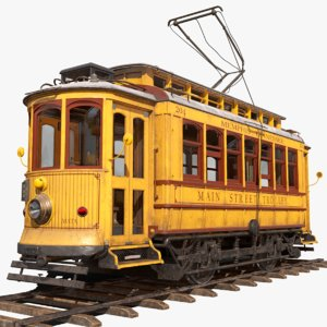 old tram memphis 3D model
