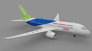 3D model comac c919 china