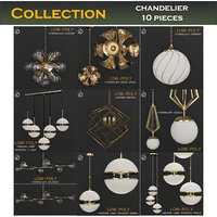 3D furniture chandelier