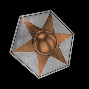 3D medieval shield model