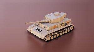 war panzer iv tank 3D