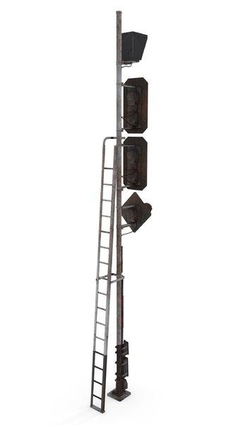railway traffic light 3D model