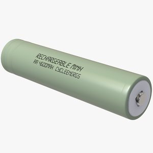 cylinder rechargeable generic battery 3D model