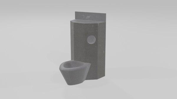 toilet prison 3D model
