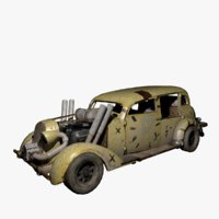 post-apocalyptic car model