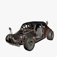 post-apocalyptic car 3D model