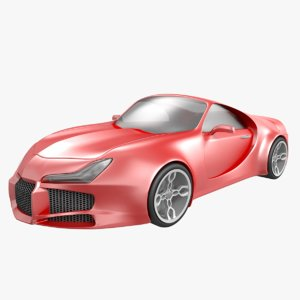 3D car vehicle sedan model