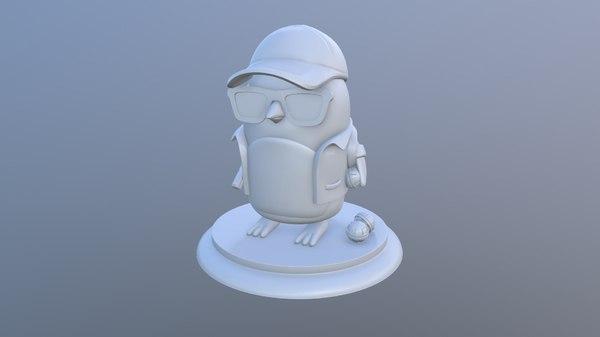 3D penguins division toy model